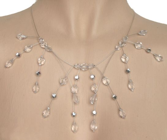 Collier mariage cristal et strass