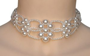 Collier mariage blanc