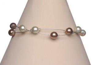 bracelet mariage ivoire et caramel