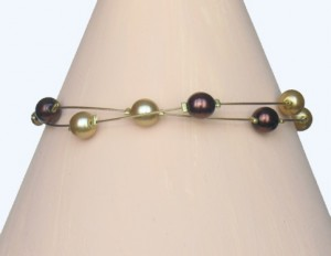 Bracelet chocolat et or