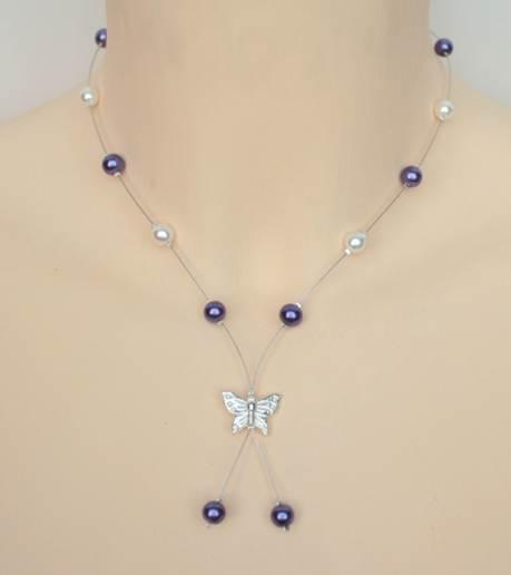 Collier_mariage_violet_et_blanc_+_papillon