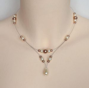Collier mariage ivoire cappuccino