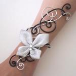 Bracelet_mariage_noir_argent_papillon