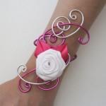 Bracelet_mariage_argent_fuchsia_fleur_blanche