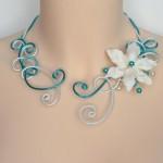 Collier_mariage_blanc_nacré_turquoise_fleur_ivoire_perles