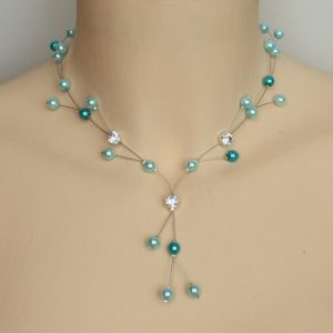 Collier mariage turquoise