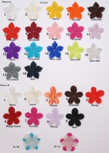 Nuancier petites fleurs en soie