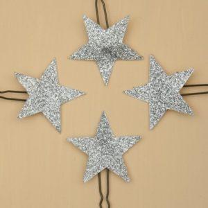 4 épingles à cheveux étoiles argent