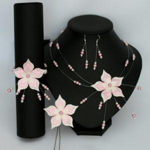 Bijoux mariage personnalisés ivoire rose