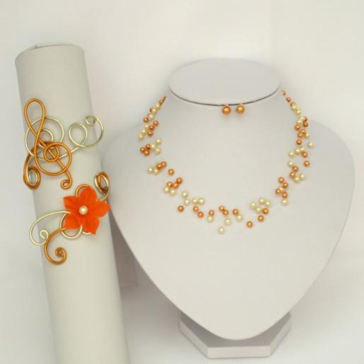 Bijoux mariage personnalisés jaune et orange