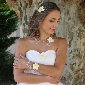 Bijoux mariage fleur de tiaré