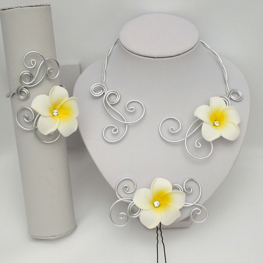 Parure mariage fleur de tiaré